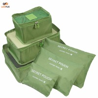 Luckipus Luggage Packing Cubes Travel Organizer Mesh Bags 6 Piece Various Size 3 Packing Cubes and 3 Pouches Green