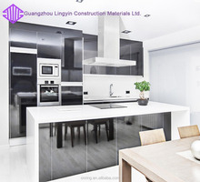 high gloss laminate high quality wood kitchen cabinets