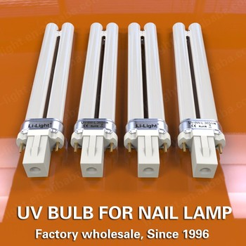 Factory wholesale H-shape 9W 365nm for nail lamp gel polish dryer high quality replacement uv bulb
