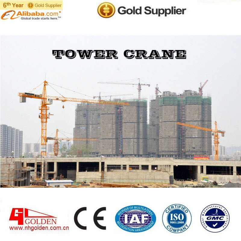 6013 8 Tons self-erect Tower Crane/jib length 60m Tower Crane/Guangdong building tower crane