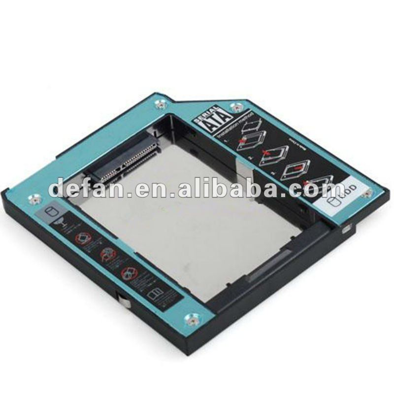 "Laptop universal slim 2.5"" IDE to SATA 9.5 mm Aluminum 2nd HDD hard disk drive caddy case for For IBM T40 series"