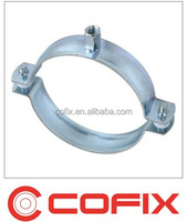pipe clamp without rubber inlay