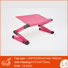 Portable Folding Laptop Table in Bed Table Stand for PC Tablet
