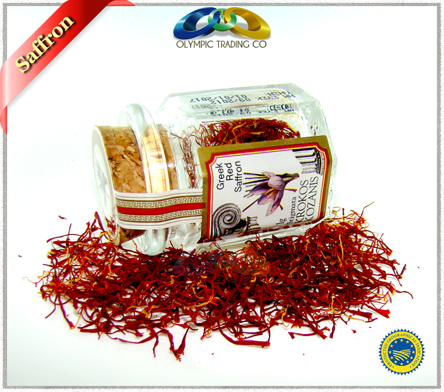 Greek Organic Red Saffron in Filaments