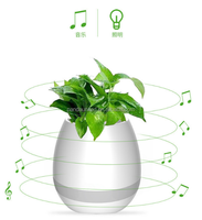 NEW Arrival Mini Bluetooth Speaker Music flowerpot Wireless Blutooth speakers with colorful Led light