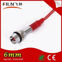 mini 6mm mounting hole red color with 20cm cable 220v pilot lamp