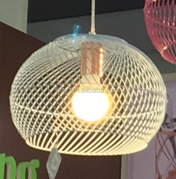 decorated pendant lamp make of wire