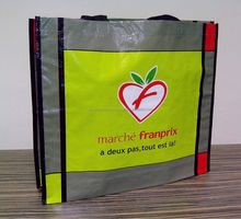 Recycled piping PP woven shopping bag - ecobag