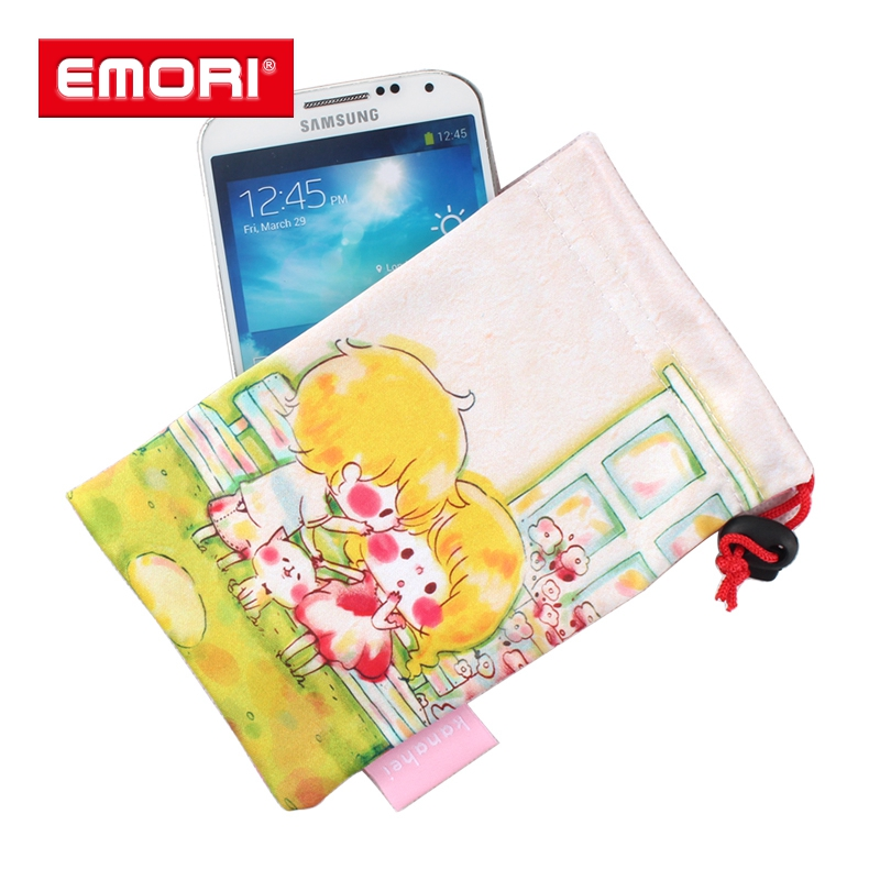 Custom Print Bag , Microfiber Cell Phone Pouch With Free Sample , Microfiber Cleaning Pouch