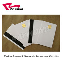 4428 Contact Smart Chip Blank PVC Card with Hico Magnetic Stripe