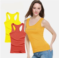 Gym Vest sexy Women Tank Tops export quality solid color combed cotton,sexy girl