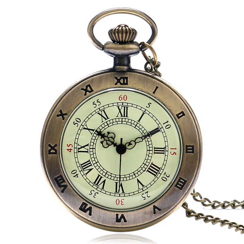 Large Vintage Pocket Watch Classic Roman Numerals Dial Slim Necklace Simple Nurse Watches Perfect Gifts for Family Friends Xmas (1)