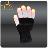 2016 neon Magic Led Blinking Gloves with nails high quality novelty led gloves with different color