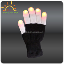 Neon Magic Led Blinking Gloves with nails high quality novelty led gloves with different color