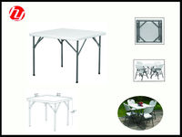 white plastic beautiful folding outdoor square table with good quality for picnic