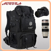 Waterproof travel hiking camera backpack bags black camera backpack