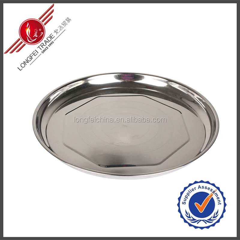 Wholesale 36CM Stainless Steel Food Tray/Serving Dish/Dinner Plate & Dishes