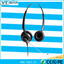in-ear earphone headset call center headsets with rj09 jack