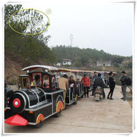 CE Cheap Trackless Road Diesel Tourist Train,Road Train for sale