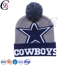 Chengxing custom cheap unisex fashion winter color jacquard knitted warm ski beanie hat