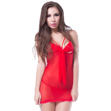 Popular design spandex red color girls sexy nightwear 2016 sexy plus size lingerie