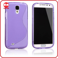 Purple S Design Slim Fit Rubber TPU Bulk Phone Cases for Samsung Galaxy S4 I9500