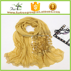 ladies scarf with double layers scarf lace fabric shawl