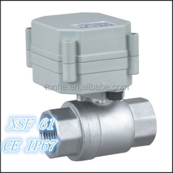 3/4'' 304 Stainless Steel 2 way electric actuator water ball valve (T20-S2-A)