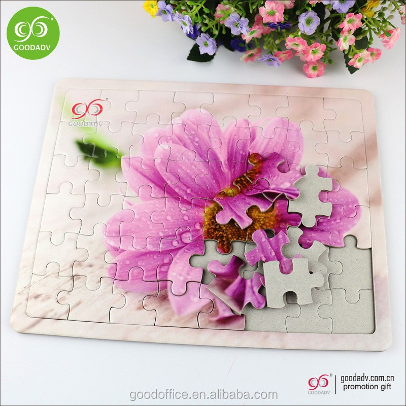Manufacturers supply blank paper jigsaw puzzle game custom puzzle jigsaw