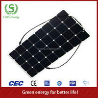 High efficiency 50w flexible solar panel, 50w mono flexible solar panel for RV, Marine