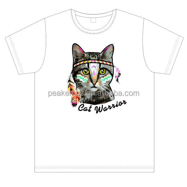 Lovely Cat Heat Transfer Flocked Cheap Custom Free Heat Transfer Design
