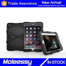 Full body luxury bumper for iPad Tablet 7 inch case for Apple Mini 3 with Built-in Screen protector