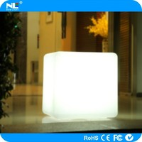 Colorful led outdoor chair modern white,led cube chairs use to Party, Hotel, Home, Night club, Wedding, led cube 3d