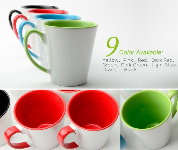 Microtec New Latte inner color inner red color mug