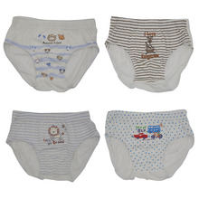 Factory Price Cotton Spandex Children Underwear Boys Slip White Cartoon Briefs