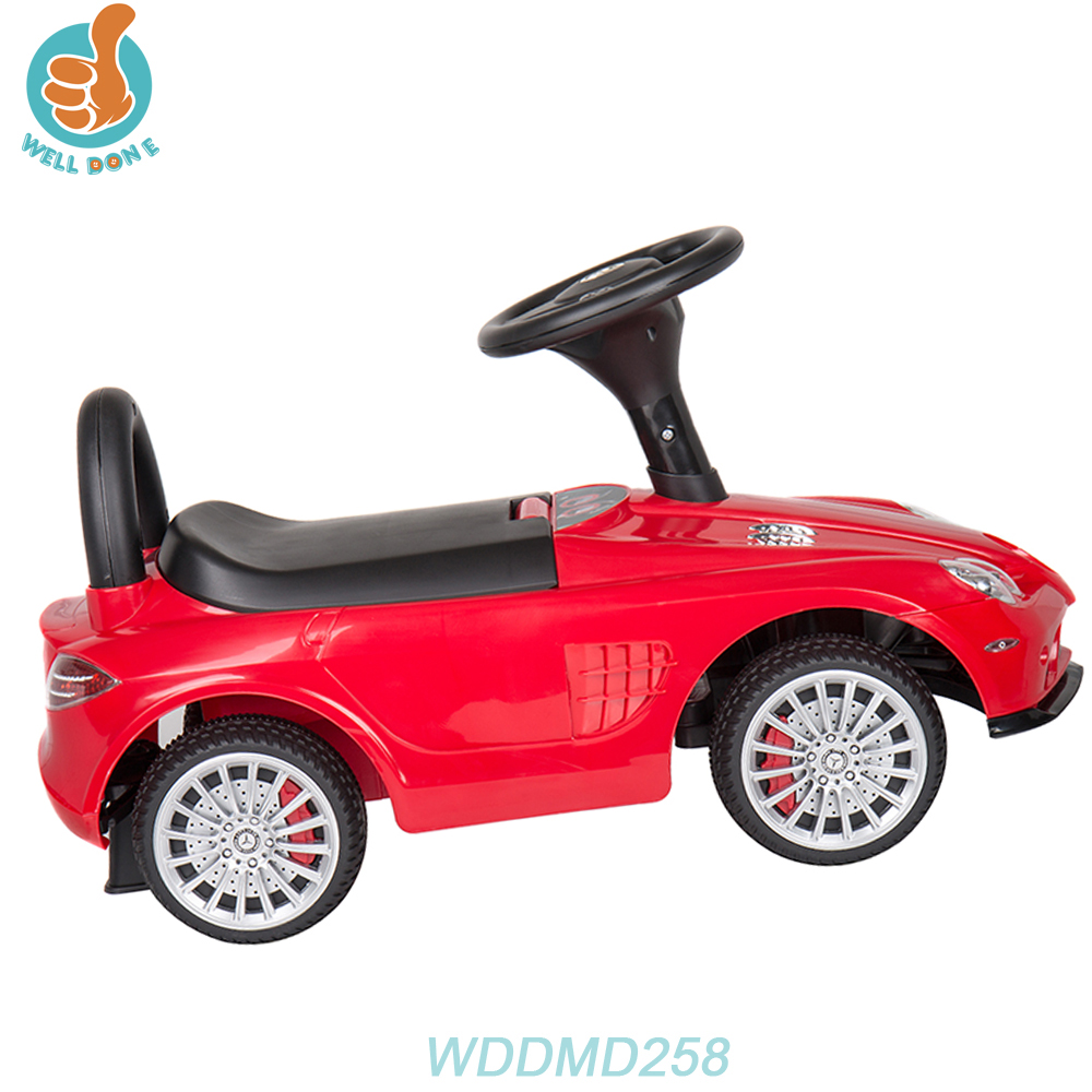 WDDMD258 Best Price Kids Cars Baby Toys Colourful Baby Car Have Handle Push Car Tissue With Music