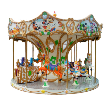 Guangzhou Elong grand 12 seat carousel horse outdoor prak rides, kids merry go round for sale