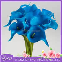 decorative baby blue calla lily flower fake flowers handmade calla lily flower