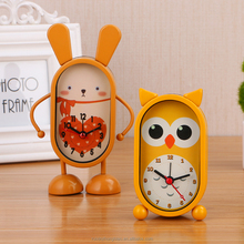 Cute metal cartoon animal digital clock as a child gift