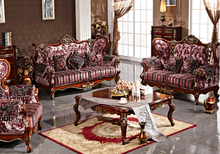 Living room wood furniture , luxury high classic wood furniture antique