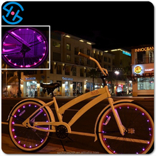 waterproof colorful glowing copper wire LED wheel spoke light