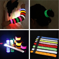 32CM Outdoor Sports LED Light Glowing Armband Running Party Cool Flash Wrist straps Colorful Reflective Safety Arm Band