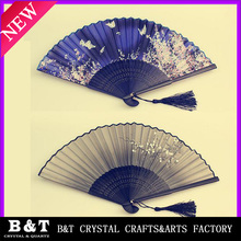 Wholesale Chinese cheap silk hand wedding fans