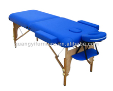 2-section wooden portable adjustable massage table/bed-masa de masaj Table de massage