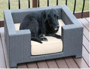 Sigma good quality pet home wicker pet dog cage bed for dog