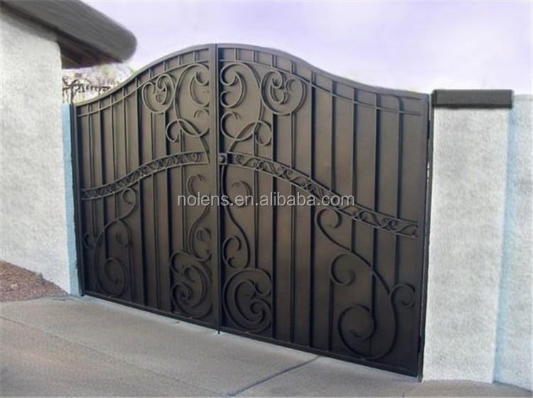 Superbe Hot Sell China Outdoor Wrought Iron Main Gate Designs/sliding Iron Main Gate  Design