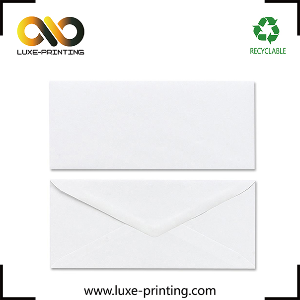 DL size plain white bulk order paper envelope fold up flap envelope