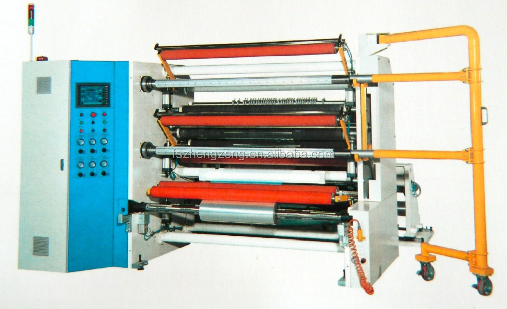 slitting & rewinder machine for plastic film, paper and foil
