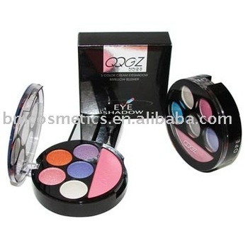 five colors eye shadow with blusher