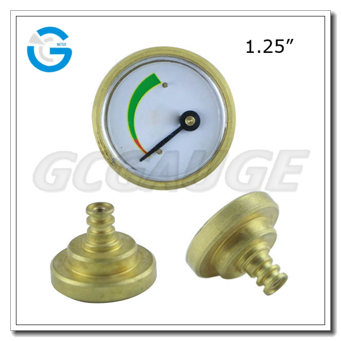 32mm brass material natural gas pressure gauge